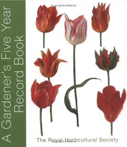 RHS Five Year Gardener's Record Book By Royal Horticultural Society