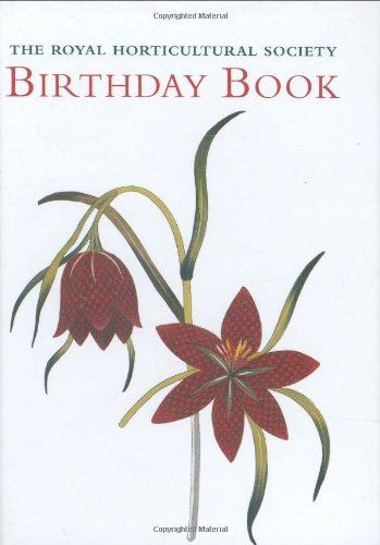 Royal Horticultural Society Birthday Book By Royal Horticultural Society