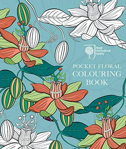 RHS Pocket Floral Colouring Book By RHS