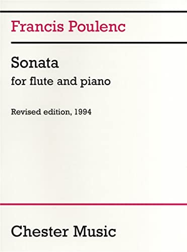 Sonata for Flute and Piano By Francis Poulenc