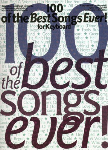 100 Of The Best Songs Ever] For Keyboard By Daniel Scott