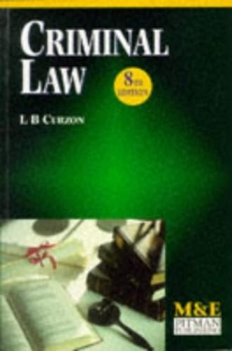 Criminal Law By L. B. Curzon