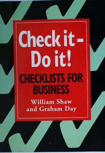 Check it - Do it! By William Shaw