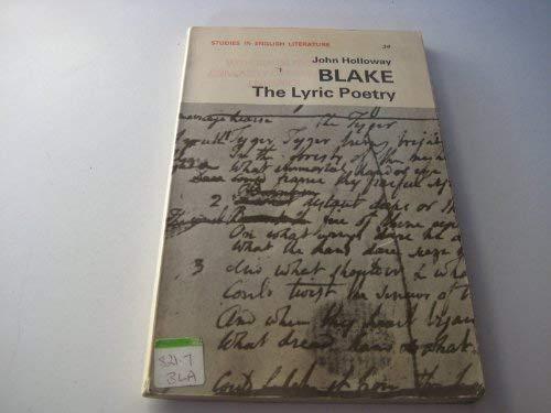 Blake's Lyric Poetry By John Holloway