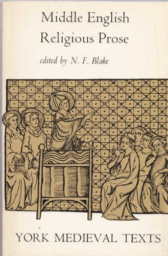 Middle English Religious Prose By N. F. Blake