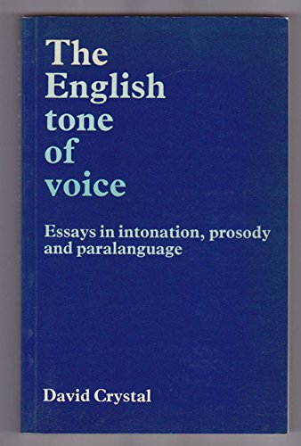 English Tone of Voice By David Crystal
