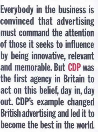 CDP HOME OF BRITISH ADVERTISING By John Ritchie