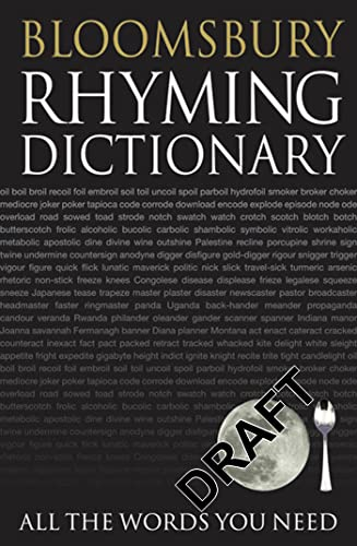 Bloomsbury Rhyming Dictionary By NA
