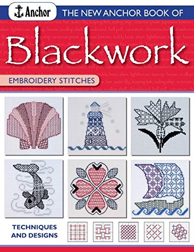 New Anchor Book of Blackwork Embroidery Stitches By Jill Cater Nixon