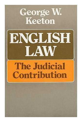 English Law By George Williams Keeton