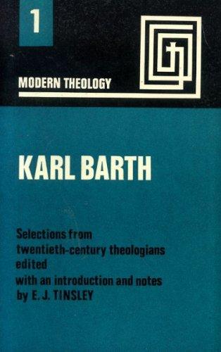 Karl Barth By Edited by E.J. Tinsley