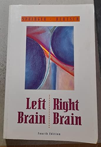 Left Brain, Right Brain by Sally P. Springer
