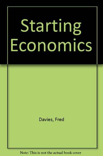 Starting Economics By Fred Davies