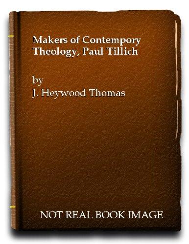 Paul Tillich By Thomas J. Heywood