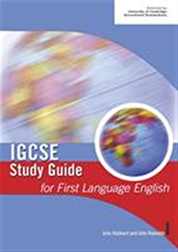 IGCSE Study Guide for First Language English By Julia Hubbard