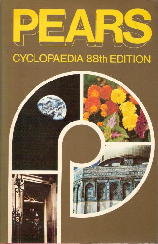 Pears Cyclopaedia By Volume editor Chris Cook