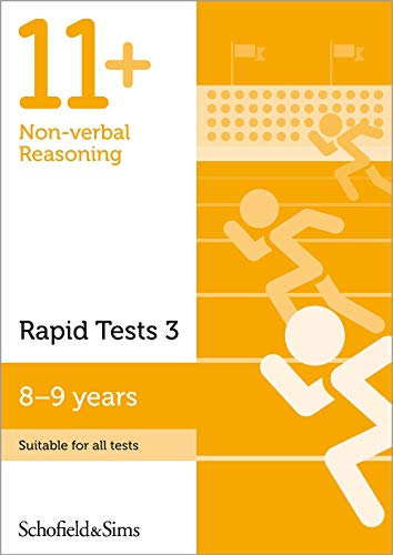 11+ Non-verbal Reasoning Rapid Tests Book 3: Year 4, Ages 8-9 By Schofield & Sims
