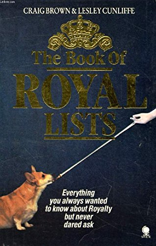 Book of Royal Lists By Craig Brown