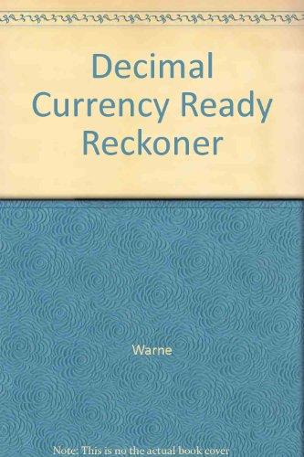 Decimal Currency Ready Reckoner By Warne