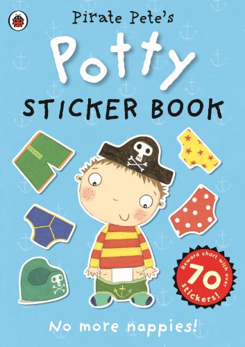 Pirate Pete's Potty sticker activity book by