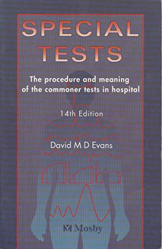 Special Tests By David M. D. Evans