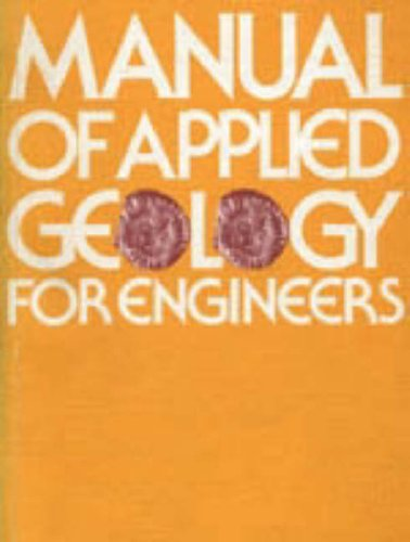 Manual of Applied Geology for Engineers By Institution of Civil Engineers