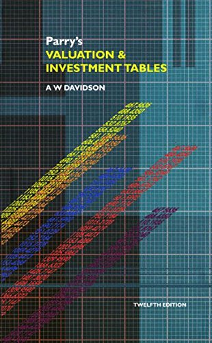 Parry's Valuation and Investment Tables (A College of Estate Management book) By Alick William Davidson