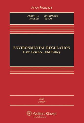 Environmental Regulation By Robert V Percival