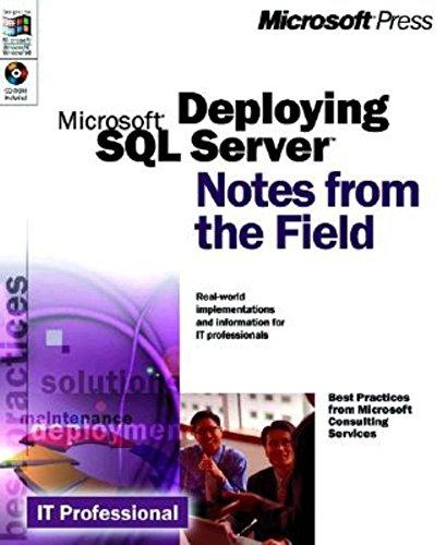 Deploying SQL Server 7.0 By Microsoft Press