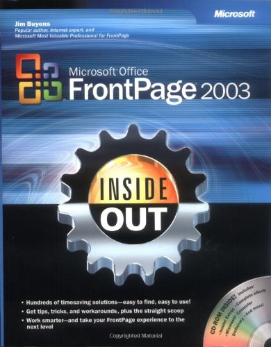 Microsoft Office FrontPage 2003 Inside Out By Microsoft Corporation