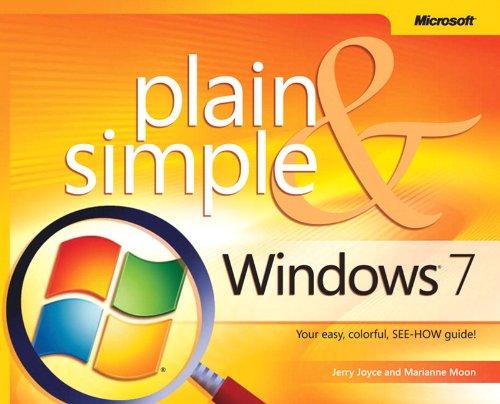 Windows® 7 Plain & Simple By Marianne Moon