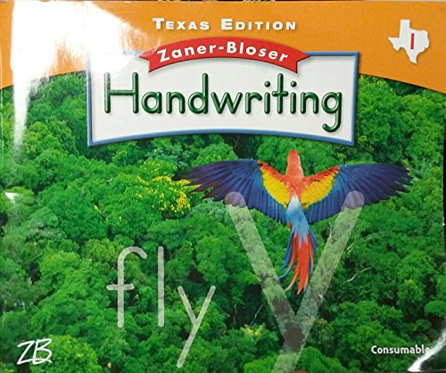 Zaner-Bloser Handwriting Texas Edition Grade 1