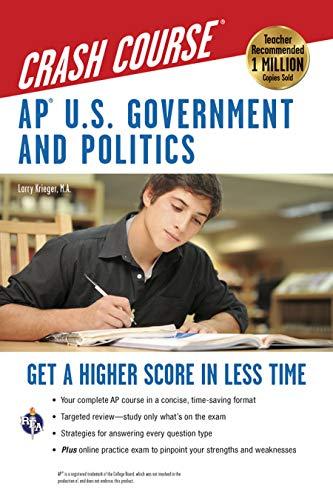 Ap(r) U.S. Government & Politics Crash Course Book + Online By Larry S Krieger