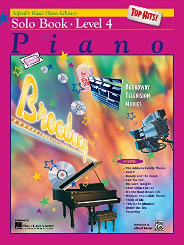 Alfred'S Basic Piano Library Top Hits Solo Book 4 By E L Lancaster