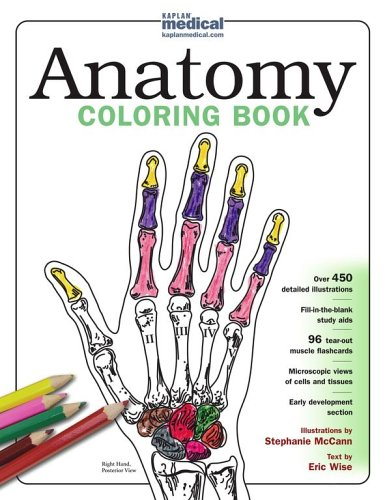 Kaplan Anatomy Coloring Book By Eric Wise