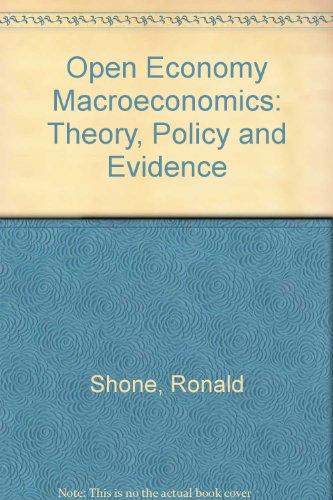 Open Economy Macroeconomics By Ronald Shone