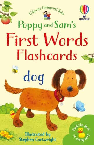 Poppy and Sam's First Words Flashcards By Heather Amery