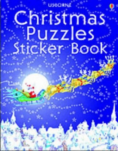 Christmas Puzzles Sticker Book By Michelle Bates