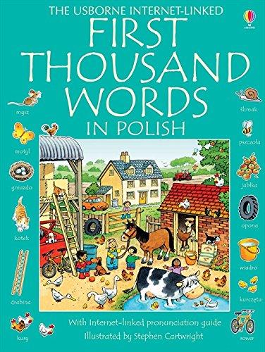 Usborne First Thousand Words in Polish By Mairi Mackinnon