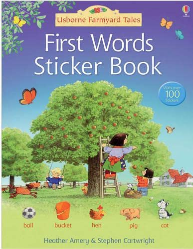 First Words Sticker Book By Heather Amery