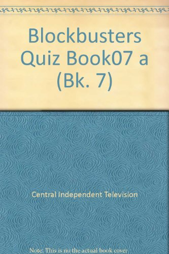 """""""Blockbusters"""" Quiz Book By Central Independent Television"""