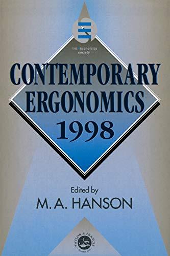 Contemporary Ergonomics 1998 By Margaret Hanson (Institute for Occupational Medicine, UK)