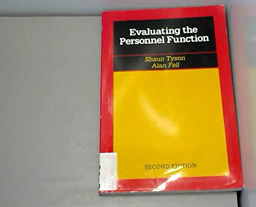 Evaluating the Personnel Function By Shaun Tyson