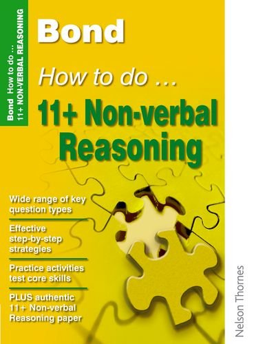 Bond How to Do 11+ Non-Verbal Reasoning by Alison Primrose