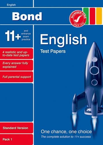 Bond 11+ Test Papers English Standard Pack 1 By Sarah Lindsay