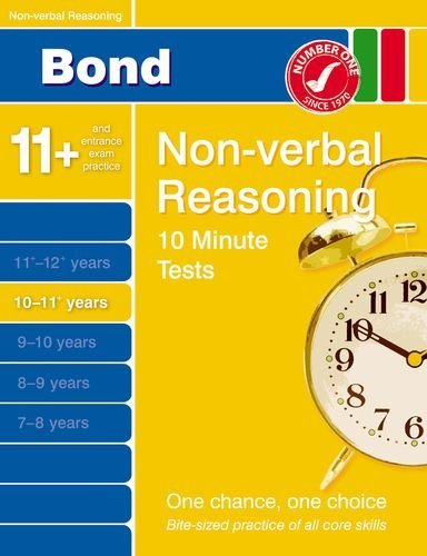 Bond 10 Minute Tests 10-11 Years: Non-Verbal Reasoning by Alison Primrose