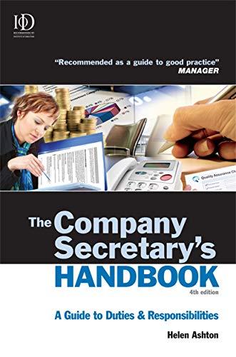 The Company Secretary's Handbook By Helen Ashton