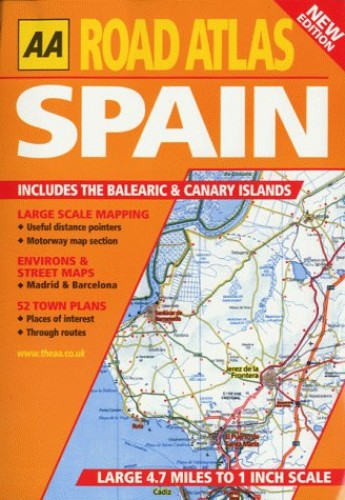 Road Atlas Spain and Portugal (AA Atlases) By AA Publishing