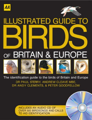AA Illustrated Birds of Britain and Europe (Illustrated Reference) by Paul Sterry