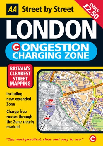 AA London Congestion Charging Map By AA Publishing